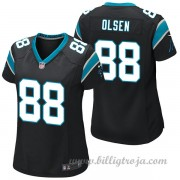 Dam Carolina Panthers Game Hemma NFL Tröjor Greg Olsen..