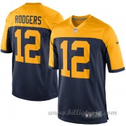Barn Green Bay Packers Game Alternate NFL Tröjor Aaron Rodgers..