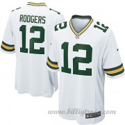 Barn Green Bay Packers Game Borta NFL Tröjor Aaron Rodgers..