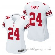 Dam New York Giants Game Borta NFL Tröjor Eli Apple..