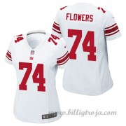 Dam New York Giants Game Borta NFL Tröjor Ereck Flowers..