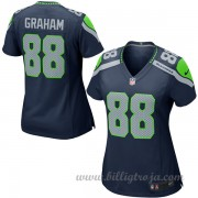 Dam Seattle Seahawks Game Hemma NFL Tröjor Jimmy Graham..