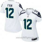 Dam Seattle Seahawks Game Borta NFL Tröjor Fan 12..