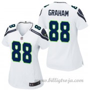 Dam Seattle Seahawks Game Borta NFL Tröjor Jimmy Graham..